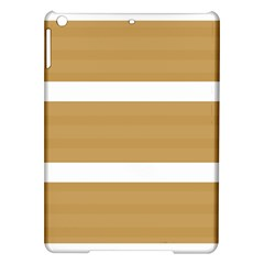Beige/ Brown And White Stripes Design Ipad Air Hardshell Cases by timelessartoncanvas