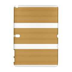 Beige/ Brown And White Stripes Design Samsung Galaxy Note 10 1 (p600) Hardshell Case by timelessartoncanvas