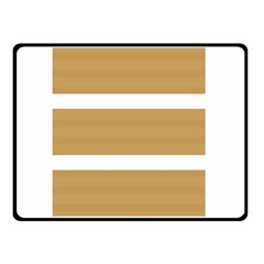 Beige/ Brown And White Stripes Design Double Sided Fleece Blanket (small)  by timelessartoncanvas