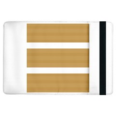 Beige/ Brown And White Stripes Design Ipad Air Flip by timelessartoncanvas