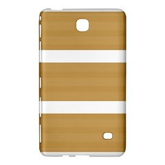 Beige/ Brown And White Stripes Design Samsung Galaxy Tab 4 (8 ) Hardshell Case  by timelessartoncanvas