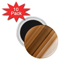 Metallic Brown/neige Stripes 1 75  Magnets (10 Pack)  by timelessartoncanvas