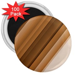 Metallic Brown/neige Stripes 3  Magnets (100 Pack) by timelessartoncanvas