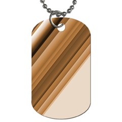 Metallic Brown/neige Stripes Dog Tag (two Sides) by timelessartoncanvas