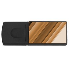 Metallic Brown/neige Stripes Usb Flash Drive Rectangular (4 Gb)  by timelessartoncanvas
