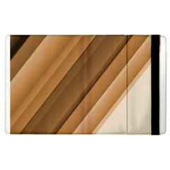Metallic Brown/neige Stripes Apple Ipad 3/4 Flip Case by timelessartoncanvas