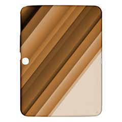 Metallic Brown/neige Stripes Samsung Galaxy Tab 3 (10 1 ) P5200 Hardshell Case  by timelessartoncanvas