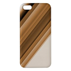 Metallic Brown/neige Stripes Iphone 5s Premium Hardshell Case by timelessartoncanvas