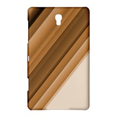 Metallic Brown/neige Stripes Samsung Galaxy Tab S (8 4 ) Hardshell Case  by timelessartoncanvas