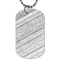 Silver Abstract And Stripes Dog Tag (one Side) by timelessartoncanvas