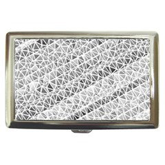 Silver Abstract And Stripes Cigarette Money Cases