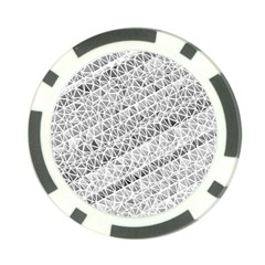 Silver Abstract And Stripes Poker Chip Card Guards (10 Pack)  by timelessartoncanvas