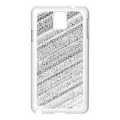 Silver Abstract And Stripes Samsung Galaxy Note 3 N9005 Case (white) by timelessartoncanvas