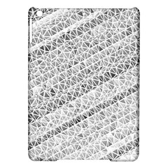 Silver Abstract And Stripes Ipad Air Hardshell Cases by timelessartoncanvas