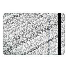 Silver Abstract And Stripes Samsung Galaxy Tab Pro 10 1  Flip Case