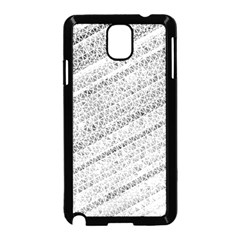 Silver Abstract And Stripes Samsung Galaxy Note 3 Neo Hardshell Case (black) by timelessartoncanvas