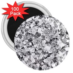 Silver Abstract Design 3  Magnets (100 Pack) by timelessartoncanvas