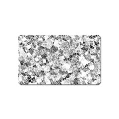 Silver Abstract Design Magnet (name Card)
