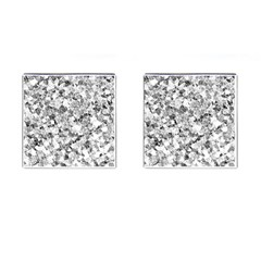 Silver Abstract Design Cufflinks (square) by timelessartoncanvas