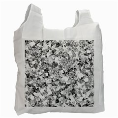 Silver Abstract Design Recycle Bag (one Side) by timelessartoncanvas
