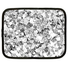 Silver Abstract Design Netbook Case (xl)  by timelessartoncanvas
