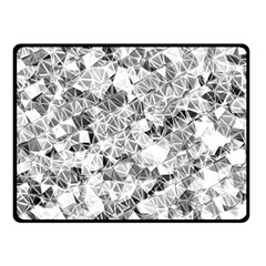 Silver Abstract Design Fleece Blanket (small) by timelessartoncanvas