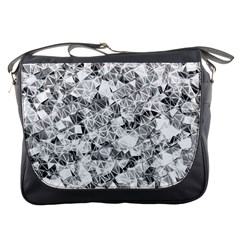 Silver Abstract Design Messenger Bags by timelessartoncanvas