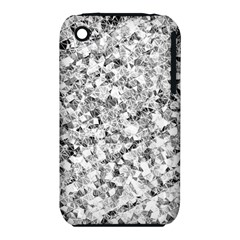 Silver Abstract Design Apple Iphone 3g/3gs Hardshell Case (pc+silicone) by timelessartoncanvas