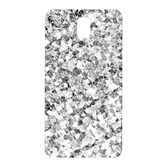 Silver Abstract Design Samsung Galaxy Note 3 N9005 Hardshell Back Case by timelessartoncanvas