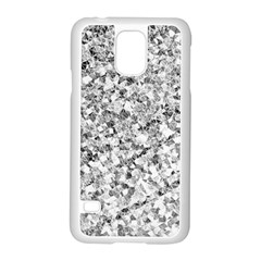 Silver Abstract Design Samsung Galaxy S5 Case (white) by timelessartoncanvas