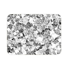 Silver Abstract Design Double Sided Flano Blanket (mini)  by timelessartoncanvas