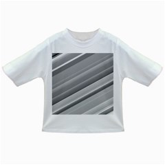 Elegant Silver Metallic Stripe Design Infant/toddler T Shirts by timelessartoncanvas