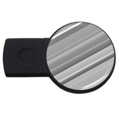 Elegant Silver Metallic Stripe Design Usb Flash Drive Round (2 Gb)  by timelessartoncanvas