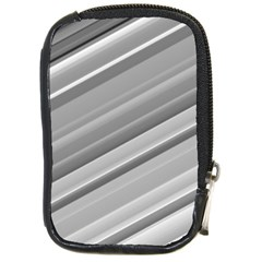 Elegant Silver Metallic Stripe Design Compact Camera Cases by timelessartoncanvas