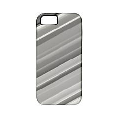 Elegant Silver Metallic Stripe Design Apple Iphone 5 Classic Hardshell Case (pc+silicone) by timelessartoncanvas