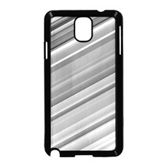 Elegant Silver Metallic Stripe Design Samsung Galaxy Note 3 Neo Hardshell Case (black) by timelessartoncanvas