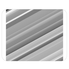 Elegant Silver Metallic Stripe Design Double Sided Flano Blanket (medium)  by timelessartoncanvas