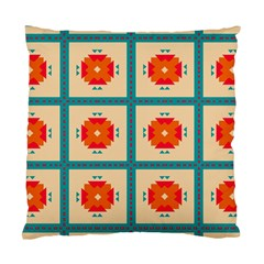 Shapes In Squares Pattern 	standard Cushion Case (two Sides) by LalyLauraFLM
