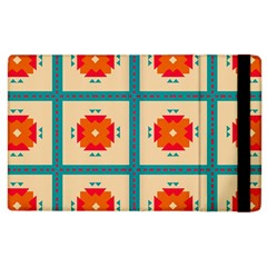 Shapes In Squares Pattern 			apple Ipad 2 Flip Case by LalyLauraFLM