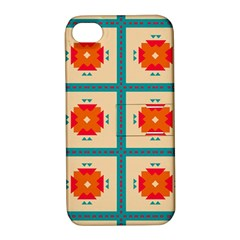 Shapes In Squares Pattern 			apple Iphone 4/4s Hardshell Case With Stand by LalyLauraFLM