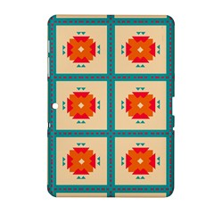 Shapes In Squares Pattern 			samsung Galaxy Tab 2 (10 1 ) P5100 Hardshell Case by LalyLauraFLM