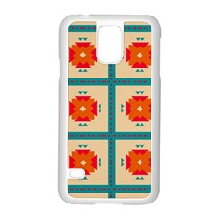 Shapes In Squares Pattern 			samsung Galaxy S5 Case (white) by LalyLauraFLM
