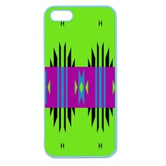 Tribal Shapes On A Green Background 			apple Seamless Iphone 5 Case (color) by LalyLauraFLM