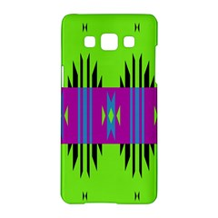 Tribal Shapes On A Green Background 			samsung Galaxy A5 Hardshell Case by LalyLauraFLM