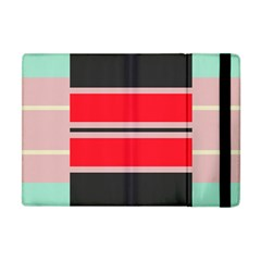 Rectangles In Retro Colors  			apple Ipad Mini Flip Case by LalyLauraFLM