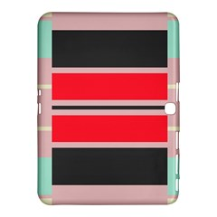 Rectangles In Retro Colors  			samsung Galaxy Tab 4 (10 1 ) Hardshell Case by LalyLauraFLM