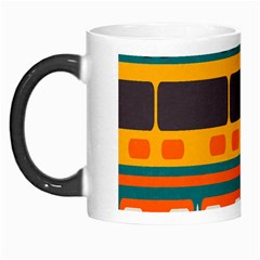 Rectangles In Retro Colors Texture Morph Mug by LalyLauraFLM