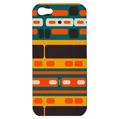 Rectangles In Retro Colors Texture 			apple Iphone 5 Hardshell Case