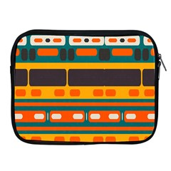 Rectangles In Retro Colors Texture 			apple Ipad 2/3/4 Zipper Case by LalyLauraFLM