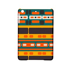 Rectangles In Retro Colors Texture 			apple Ipad Mini 2 Hardshell Case by LalyLauraFLM
